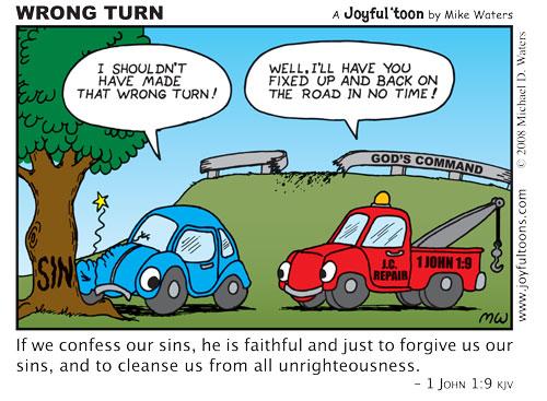 Wrong Turn - 1 John 1:9